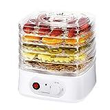 Deshidratador de frutas, verduras y hierbas | Secador de alimentos 250 W | 8 programas de secado | 4 filtros transparentes | Ventilador de alto rendimiento