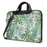 15.6″Durable Hombro Mensajero Bolsa maletín PC Hojas Verdes estéticas Moda Impermeable Ordenador Portátil/portátil/Tablets