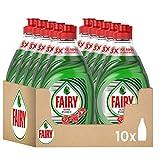 Fairy Ultra Poder Líquido Lavavajillas 10 x 450 ml Fórmula Efectiva que Deja los Platos Relucientes, Óptimo Poder Antigrasa