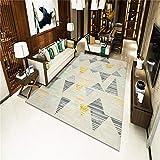 TANGYUAN Alfombra Interior Exterior Balcón Resistente Intemperie - Alfombra de la Sala de Estar combinación triángulo Colorido y Exquisito diseño Casual geométrico Lavable-El 120x 160CM