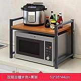 Accesorios cocina soporte bandejas cocina estante cocina almacenamiento Suelo Encimera Doble Especia Rack Horno Rack-I