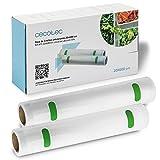 Cecotec Rollos Gofrados Set de 2 Rollos Medianos 20 x 600 cm. Superficie gofrada, BPA Free
