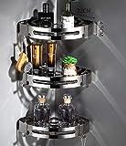 CCTYJ Inodoro de Acero Inoxidable para baño sin perforar- A3Estantería de Esquina para Baño -