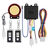 KKmoon Sistema de Alarma para Motocicleta, DC12V Antirrobo Alarma Universal para Moto, Control Remoto, con Mini Transmisor