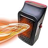Calentador práctico de 350 W | Mini calefactor plug-in | Diseño compacto | Calor fácil y rápido | Pantalla digital | Ideal para caravanas | Temporizador de encendido/apagado