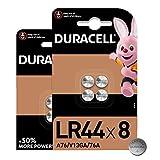 Duracell - Pilas alcalinas de botón LR44 de 1.5V, paquete de 8 unidades, 76A/A76/V13GA, diseñadas para su uso en juguetes, calculadoras y dispositivos de medición