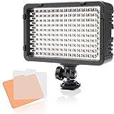 Selens LED 168 Luz Regulable Ultra Alta Potencia Panel Cámara/Videocámara Iluminación para Cámara Réflex Digital DSLR con Bi-Color Filtro, Adaptador de Batería y Soporte de Montaje de Zapata