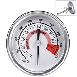 Ecloud Shop Barbacoa BBQ Pit Smoker Grill Termómetro Medidor de Temperatura, Cocinar BBQ Probe Thermometer (75 ° C a 300 ° C / 150 ℉ a 600 ℉)