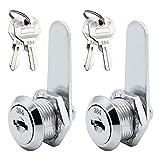2 unidades de cajones Cam Lock cerradura de cajón con 4 llaves, cerradura para armarios de puertas, gabinete, buzón