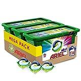 Ariel Allin1 Pods Color - Detergente en cápsulas para la lavadora, óptimo para mantener el color y brillo de tus prendas, 114 lavados (3 x 38)