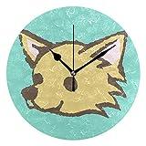MALPLENA Dog Spitz - Reloj de Pared con Mecanismo de Barrido