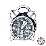Pulsera Charms Abalorios,Pulseras En Forma De Plata 925 Cuentas De Reloj De Alarma Antiguas Originales Diy Dijes Colgantes Encanto Joyería Hacer Regalo