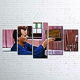 Yftnipl Cuadro Moderno En Lienzo 5 Piezas Tostadora Del Día De La Marmota Hd Escena Pared Arte Pintura Para Hogar Salón Oficina Mordern Decoración Regalo