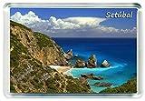 DreamGirl I379 Setúbal Jumbo Imán para Nevera Portugal Travel Fridge Magnet