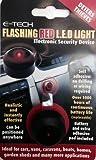 E-Tech–Maniquí Alarma para disuadir a los Ladrones–LED Parpadeante Color roja Uso en Coches, caravanas, Barco etc.