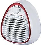 Jata TC73 Calefactor cerámico PTC, silencioso, 1200 W, Blanco con detalle rojo