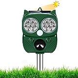 Solar Ultrasónico Repelente para Gatos YIPIN Ultrasónico Ahuyentador pare Animales, Gatos, Ratas, Perros, Aves, Zorros y otros, Outdoor Repeller para Los Animales con LED Que Destella