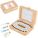 Luchild caja dientes leche ESPAÑOL, Caja para guardar dientes para niños y niñas, Regalo para niños en madera de souvenir, Acumulación de dientes - Español