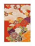 LIGICKY Cortina para puerta de estilo japonés Noren de algodón y lino, diseño retro con flores, para colgar en la ventana, para decoración del hogar, 85 cm de ancho x 119 cm de largo, multicolor