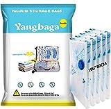 Yangbaga Bolsas de Almacenaje al Vacío 5 Unidades Bolsas Vacio Ropa, Bolsas Envasar al Vacio,Bolsas de Compresion para Ropa Edredones Ropa de Cama Almohadas de Viaje
