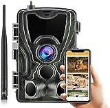 SUNTEKCAM Cámara de caza 4G 20MP Email MMS SMS 1080P HD Trail Camera con 36 pz IR LED para visión nocturna, IP65 a prueba de agua con 0.3s Tiempo de activación, actualización, control más fácil 801LTE
