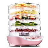 LYDUL Vegetal Fruta Hierba Carne de Secado de la máquina Secadora de Mascotas Snacks Alimentos con 5 bandejas, deshidratador de Alimentos, Control de Temperatura y fácil configuración