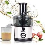 Duronic JE7C Licuadora de 800W para frutas y verduras – 2 Velocidades – Boca Ancha 85 mm – Boquilla antigoteo – Jarra de 1L – Libre de BPA
