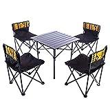 Poptoy mesa plegable al aire libre y sillas Set mesa de picnic portátil 5 piezas