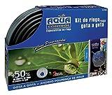 Aqua Control Riego por Goteo para Jardín-Incluye Goteros, Tubería, Microtubo, Reductor de presión, Soportes y Tapones, Kit C4064