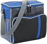 Giving Bolsa nevera XXL para botellas, 33 x 33 x 23 cm, bolsa térmica con correa, bolsa de pícnic, bolsa de malla (azul cobalto)