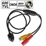 ePathChina® 1/3 '600TVL 5 mega pixel CMOS digital de vigilancia cono Mini estenopeica espía oculta Covert Wired cámara de vídeo con 3.7 mm lente para seguridad en el hogar – PAL
