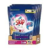 Skip Ultimate 3en1 Detergente Capsulas Fragancia Mimosín, 43 lavados, 1161 g - Pack de 3, 3483 g