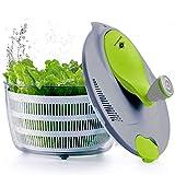 Kilokelvin El plastico Spinner de ensalada de cocina 4 Litros Secador rápido de verduras-Libre de BPA