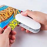 JTENG Mini Selladora de Bolsas de Plástico,2 en 1 Selladora de Bolsas Portátil con Función del Corte para Comida y Merienda Bolsa de Almacenamiento