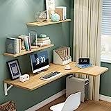 Estante En forma de L plegable mesa de ordenador for montado en la pared pequeños espacios de alas abatibles comedor Estudio de mesa escritorio de la computadora tabla pared doble apoyo Tabla lateral