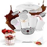 Duronic YM2 Yogurtera con Temporizador 20W con 8 Tarros de 125 ml - Panel de Control y Autoapagado - Máquina para hacer Yogur Natural y Casero
