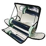 HUKOER Cocina Solar portátil Estufa Solar integrada al Aire Libre Parrilla Solar parabólica portátil con Mayor eficiencia Temperatura máxima 550 ° F (288 ° C) para Picnic, Camping