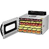 Deshidratador de alimentos eléctrico 400W, deshidratador de vegetales para máquina de frutos secos, 6 bandejas, temporizador digital, 30 ℃ -90 ℃, CE/FCC/CCC