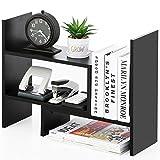 FITUEYES Estantería Organizador de Escritorio DIY Madera Negro Librería Estante de Sobremesa para Oficina Casa 68x17x39cm DT306801WB