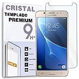 REY Protector de Pantalla para Samsung Galaxy J5 2016, Cristal Vidrio Templado Premium