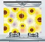 para la Sala de Estar Dormitorio DIY Decoración de Habitaciones de Vinilo - Adhesivo de pared antiincrustante e impermeable para campana extractora de cocina