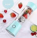 ERKEJI Batidoras de Vaso Mini exprimidor portátil de licuadora licuadora Smoothie Fabricante con 6 Cuchillas 480 ml 4000mAH Batidos de Leche Batidos Alimentos para bebés