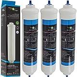 FilterLogic FFL-191X | Paquete de 3 - Filtro de agua frigorífico compatible con HAIER 0060823485A Cartucho para refrigerador nevera HRF-628A HRF-628I HRF-630A HRF-630I HRF-522I HRF-665I HB22FWRSSAA