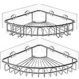 Orimade Adhesivo Estantería de Esquina para Ducha Baño Triangular Organizador Acero Inoxidable Sus 304 Sin Perforar - Pack de 2