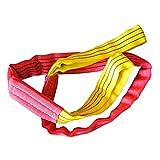 Eslinga De Elevación 10 toneladas Duplex SINTÉTICA Fibra DE Fibra DE EVENCIÓN DE Carga SKING con STROP 1-8MTR Tratamiento antidesgasto Resistente Al Desgaste (Color : Red Yellow, Size : 2m)