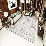 TANGYUAN Alfombra De Salón Moderna Varias Dimensiones S-XXXL - Combinación de línea de alfombras de Dormitorio Exquisita geometría Minimalista Moderna fácil de Limpiar-Los 60x 90CM