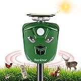 Repelente de Animales ultrasónico de 360 °,Petrichor Repelente Solar para Gatos con batería Recargable, Resistente al Agua, para Mascotas, Zorro, ahuyentador, para Jardines al Aire Libre, Patio