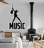 Pegatinas de vinilo para pared Música Palabras Músicos Pop Rock Discoteca Cocina Restaurante Hornear Comedor