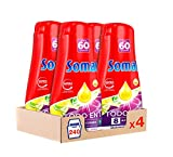 Somat Todo en 1 Gel Lavavajillas Lima y Limón – Pack de 4, Total: 240 Lavados (4,32L)
