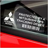Platinum Place 5 x Mitsubishi GPS Tracking Device Security Window Stickers 87x30mm-Evolution,Shogun,Colt-Car,Van Alarm Tracker